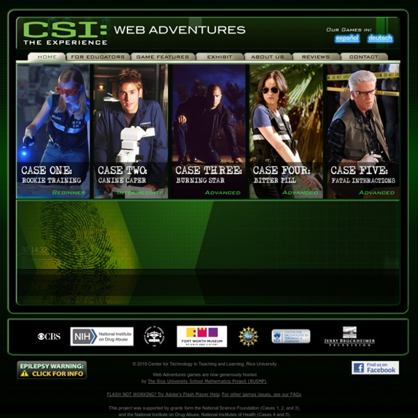 CSI: THE EXPERIENCE — Web Adventures