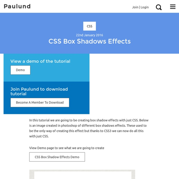 Creating Different CSS3 Box Shadows Effects - Iceweasel