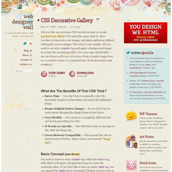CSS Decorative Gallery