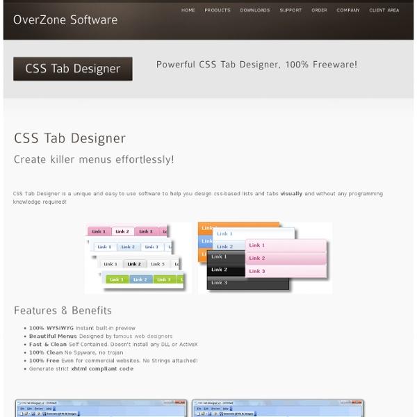 CSS Tab Designer « OverZone Software