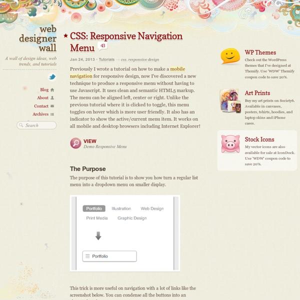 CSS: Responsive Navigation Menu