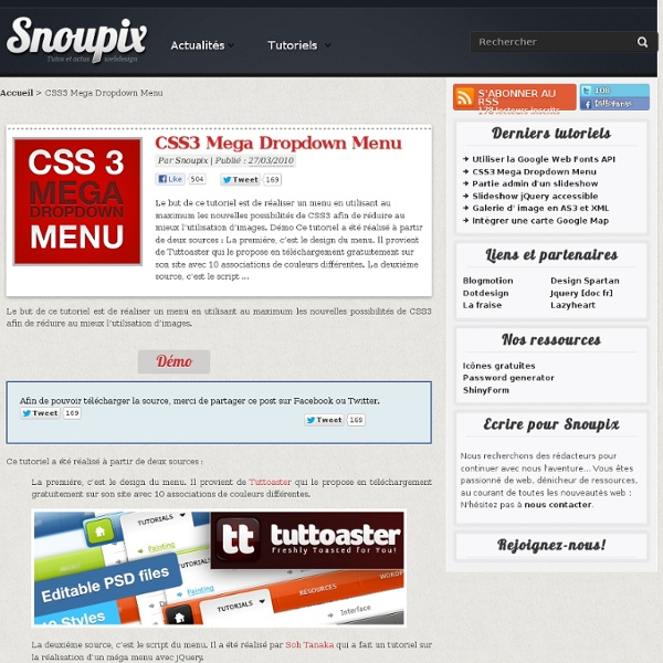CSS3 Mega Dropdown Menu