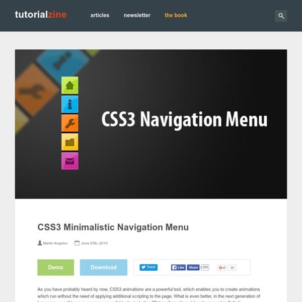 CSS3 Minimalistic Navigation Menu – Tutorialzine