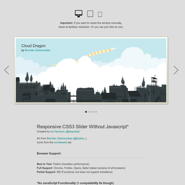 CSS3 Responsive Slider / Carousel Using Radio Buttons