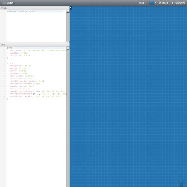 CSSDesk - Online CSS Sandbox