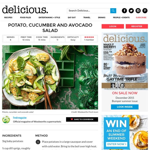 Potato, cucumber and avocado salad - delicious.