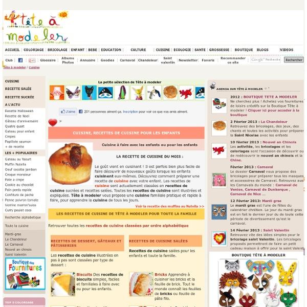Cuisine enfant, des idees pour la cuisine pour enfant
