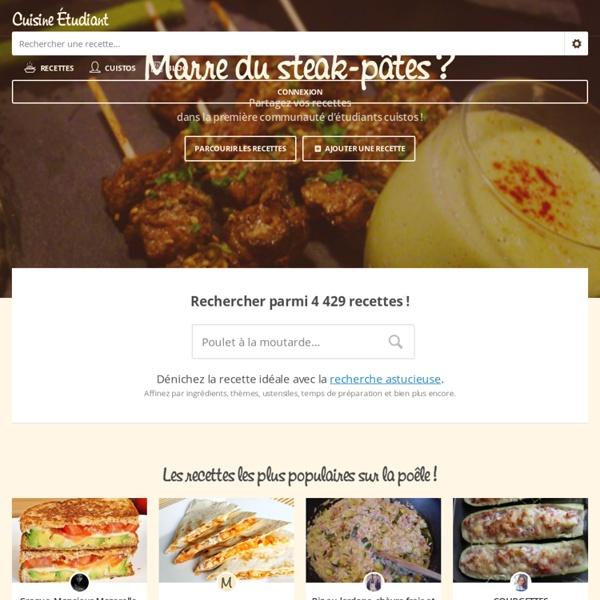 Cuisine Étudiant, les recettes rapides et faciles