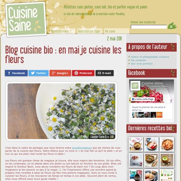 Blog cuisine bio : en mai je cuisine les fleurs