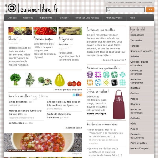 Cuisine-libre.fr - Une autre cuisine est possible !