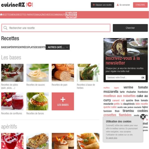 Cuisine AZ, recettes de cuisine faciles et simples de A à Z