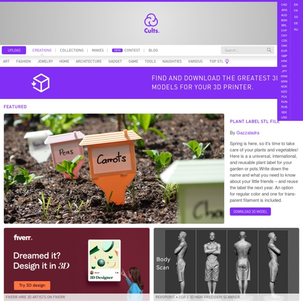 Cults ・ Buy and sell 3D models for 3D Printer