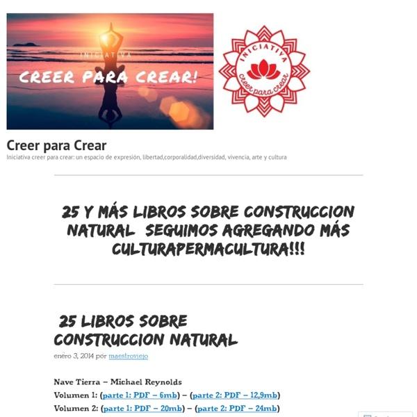25 LIBROS SOBRE CONSTRUCCION NATURAL