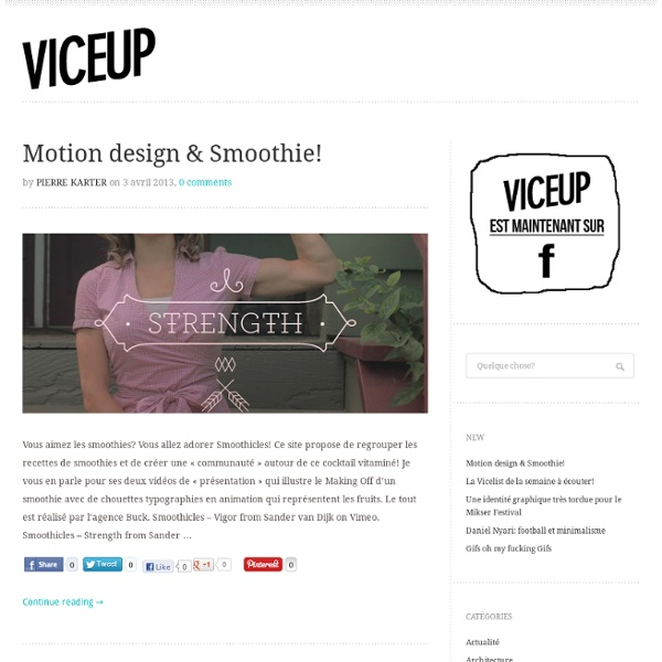 ViceUp - Culture magazine Art - Design & Lifestyle