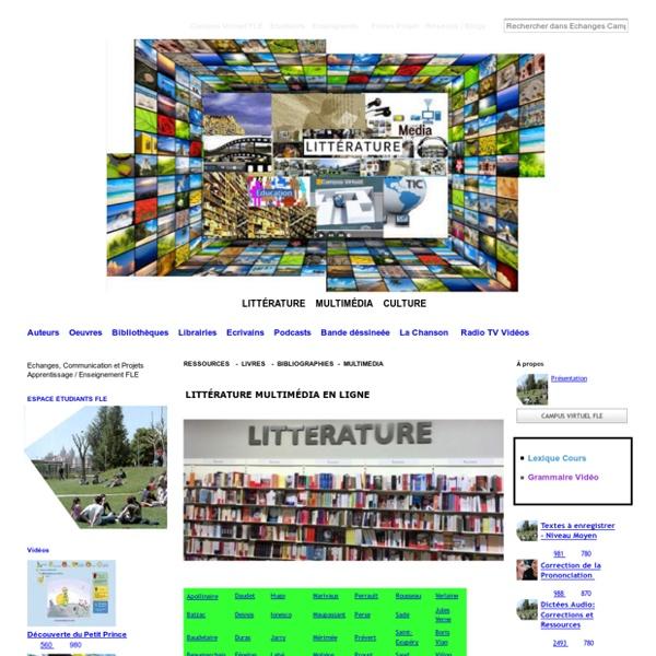 Llittérature francophone audio video, auteurs, oeuvres, Flenet