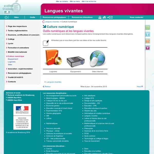 Culture numérique - Langues vivantes
