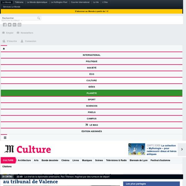 Culture : Toute l'actualité sur Le Monde.fr.
