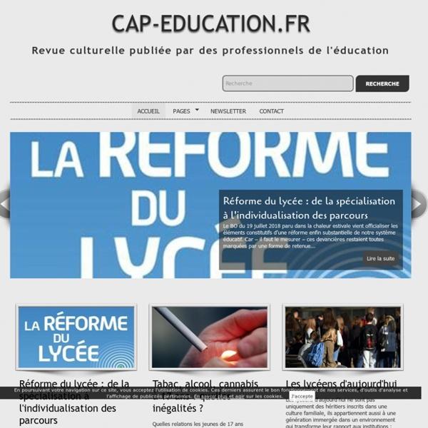 SITE + RSS + LETTRE : Cap-Education.fr (Revue numérique des professionnels de l'éducation)