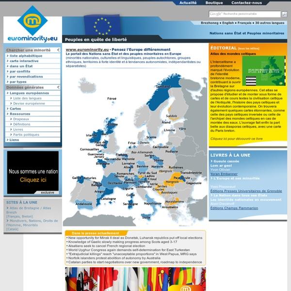 Nations sans État, minorités nationales, culturelles et linguistiques, peuples autochtones européens