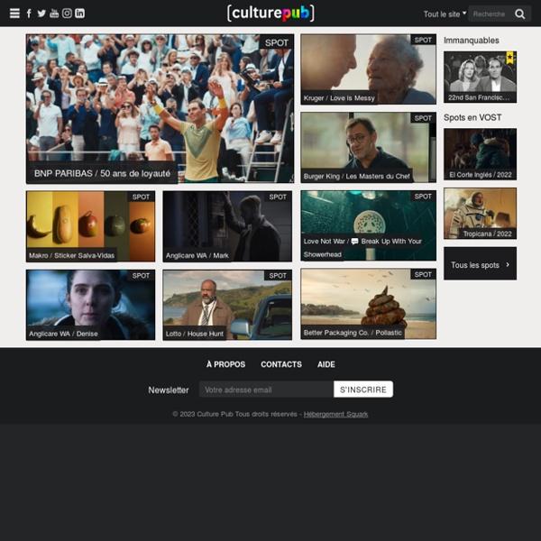 Culture Pub : Le site de toutes les publicités du monde