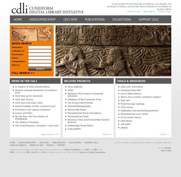 CDLI - Cuneiform Digital Library Initiative