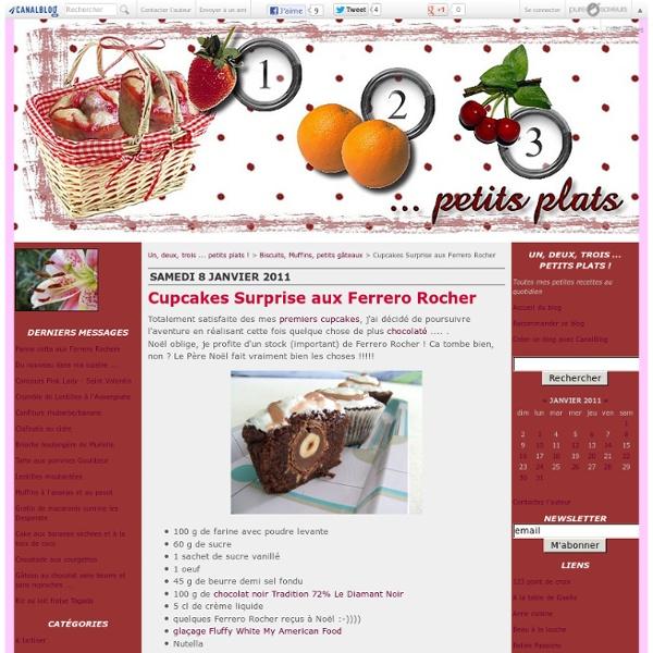 Cupcakes Surprise aux Ferrero Rocher