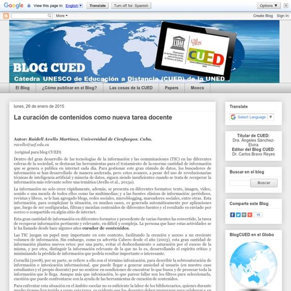 CUED: La curación de contenidos como nueva tarea docente