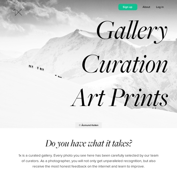 1X - Curated photography