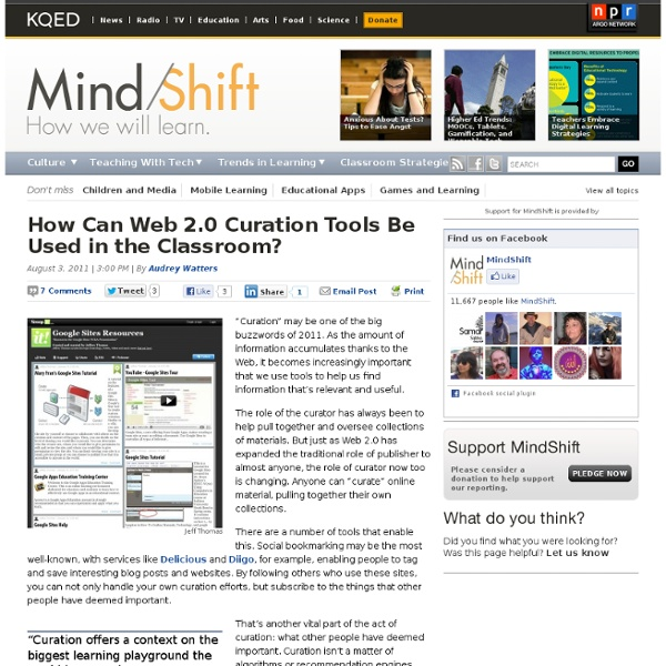 How Can Web 2.0 Curation Tools Be Used in the Classroom?