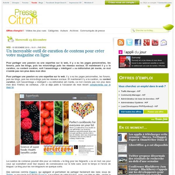 Content curation : créer facilement son magazine en ligne avec Montage