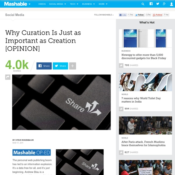 Why Curation Is Just as Important as Creation [OPINION]