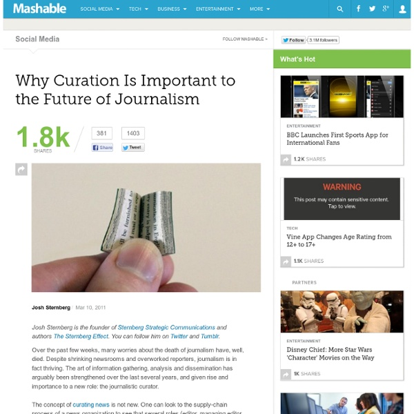 Why Curation Is Important to the Future of Journalism