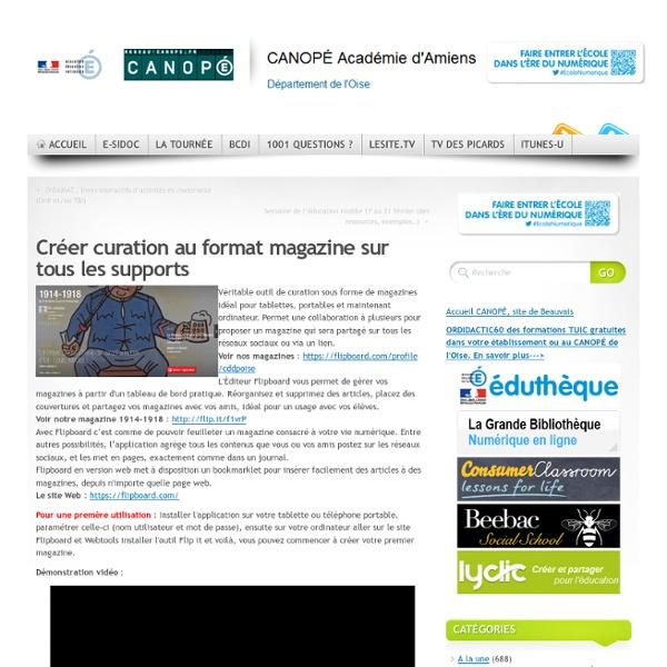 Créer curation au format magazine sur tous les supports