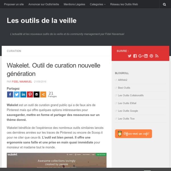 Wakelet.outil de curation - En attente de réponse pour RGPD...
