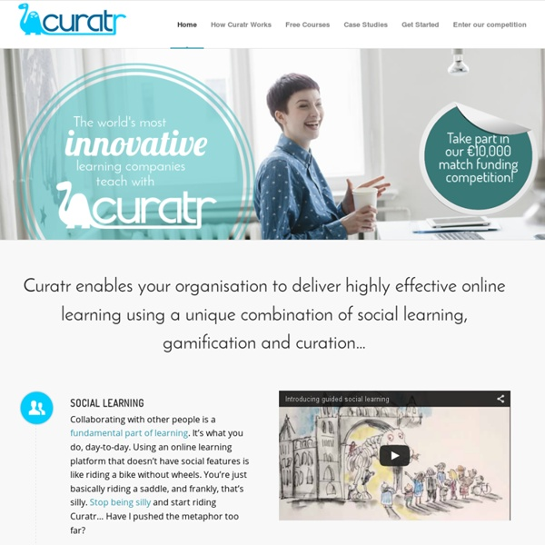 Create engaging online courses quickly with Curatr