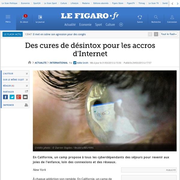 Des cures de désintox pour les accros d'Internet