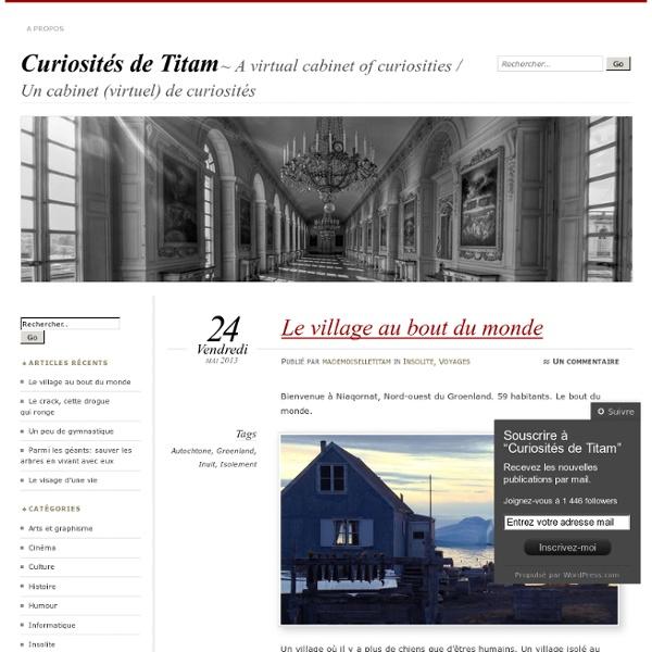 Curiosités de Titam : un cabinet (virtuel) de curiosités