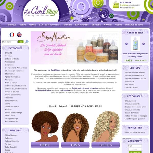 Le CurlShop - Des produits pour vos cheveux Bouclés Frisés Crépus