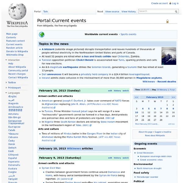 Portal: Current Events