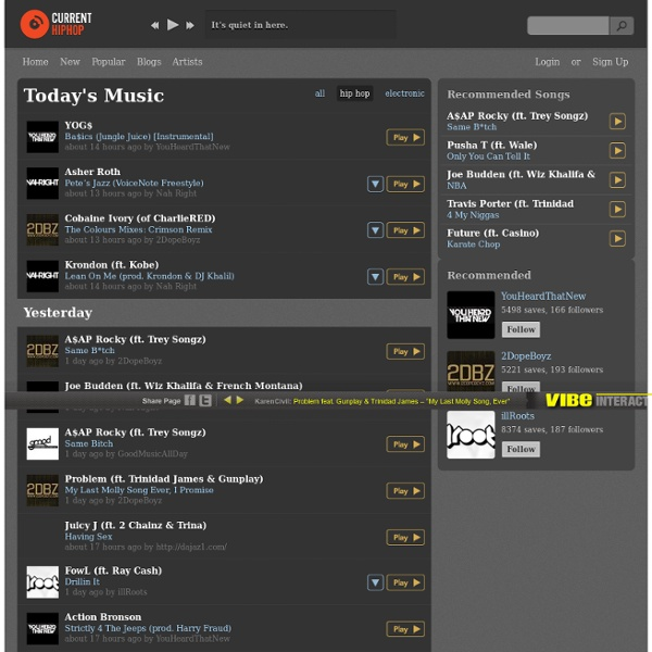 CurrentHipHop.com - Stream and download the latest hip-hop music