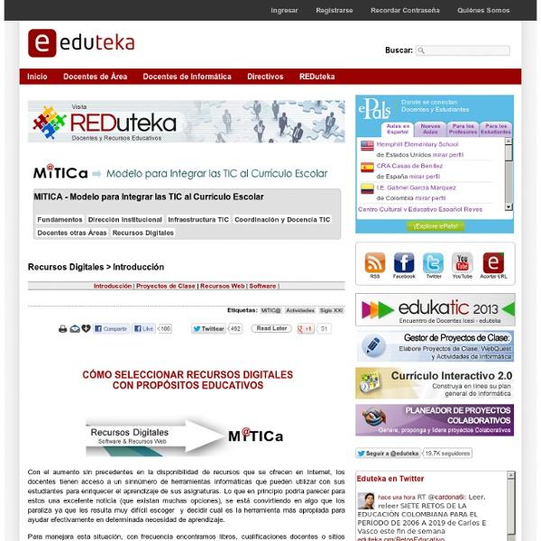 Cómo seleccionar recursos educativos digitales