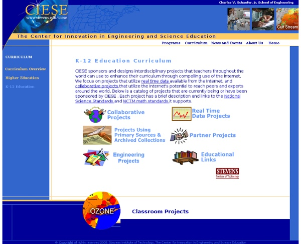 Curriculum: K-12 CIESE Online Classroom Projects