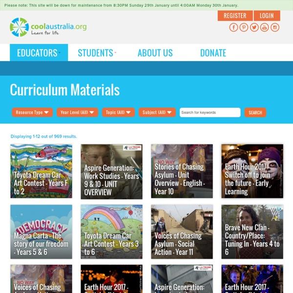 Curriculum Materials - Cool Australia