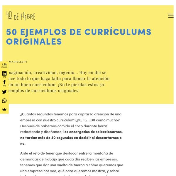 50 ejemplos de currículums originales | Pearltrees