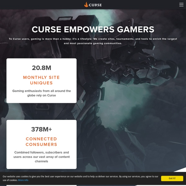 Curse - WoW Addons, Minecraft Mods, Curse Client and Gaming News