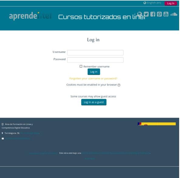 Cursos en línea: Log in to the site