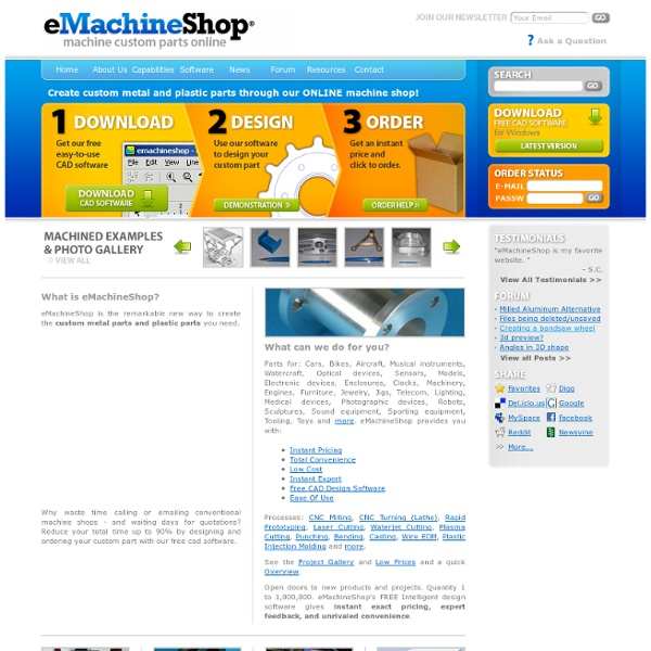 Custom Online CNC Machine Shop | Pearltrees