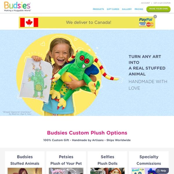 Budsies - Cute Custom Stuffed Animals and Plush Figurines of Drawings, People, and Pets