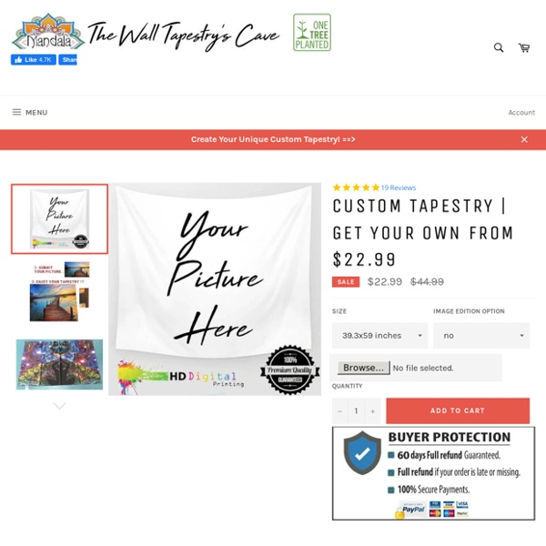 CUSTOM TAPESTRY -> Your Design From $22.99