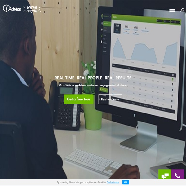 Real-time online customer service: live chat - iAdvize